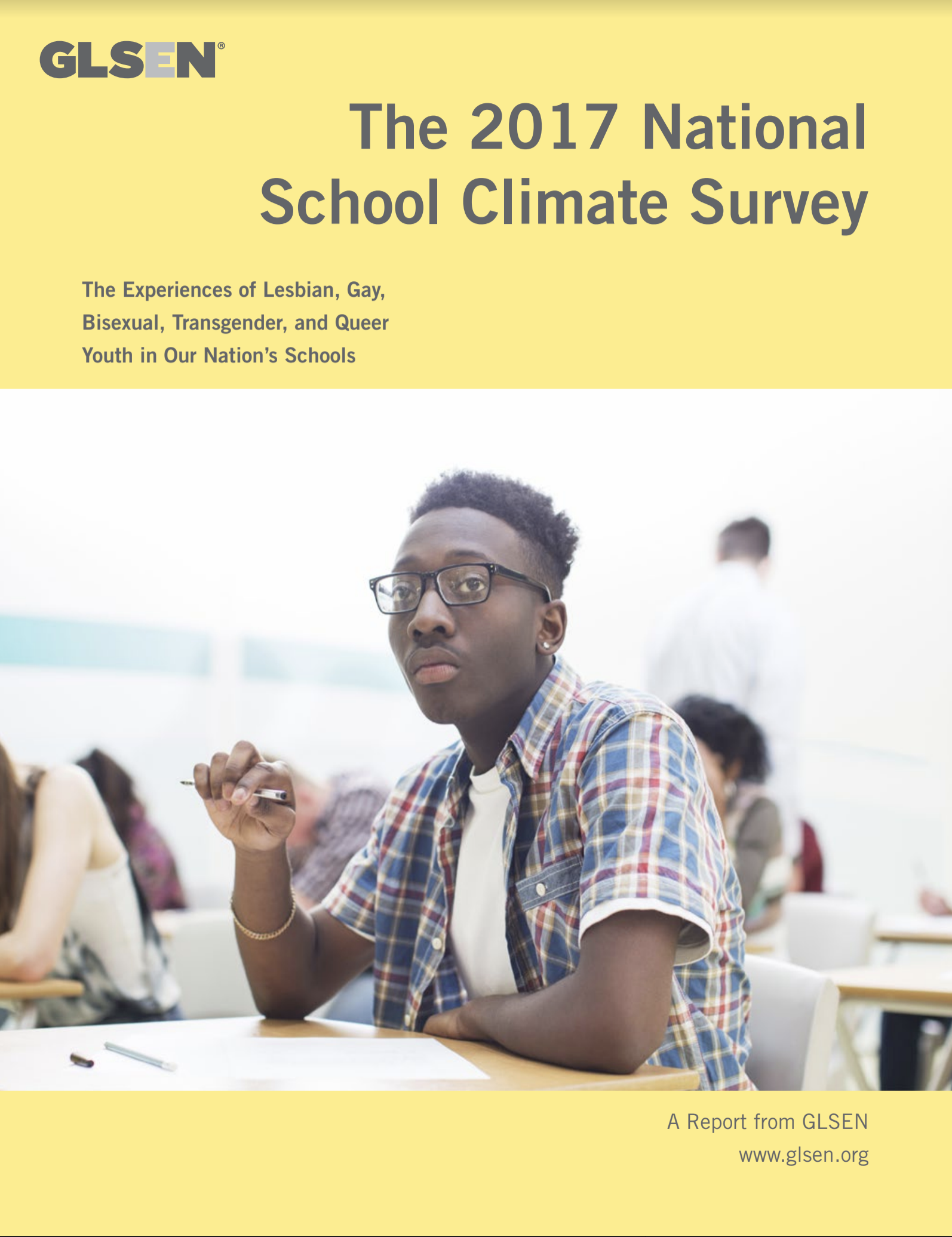 "Cover of ""The 2017 National School Climate Survey"""