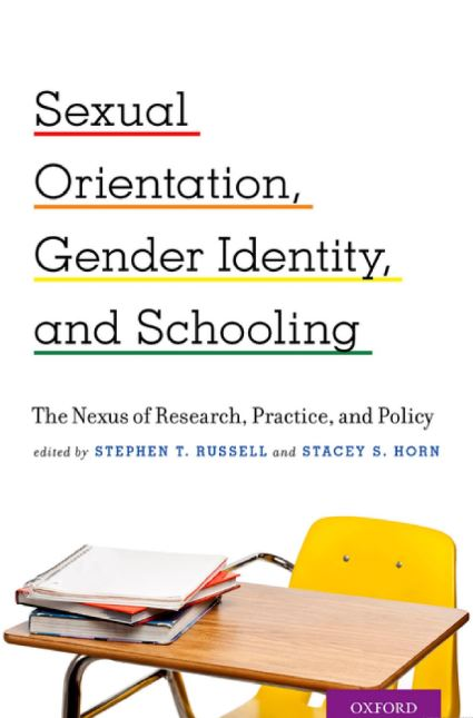 "Cover of ""Sexual Orientation, Gender Identity, and Schooling"""