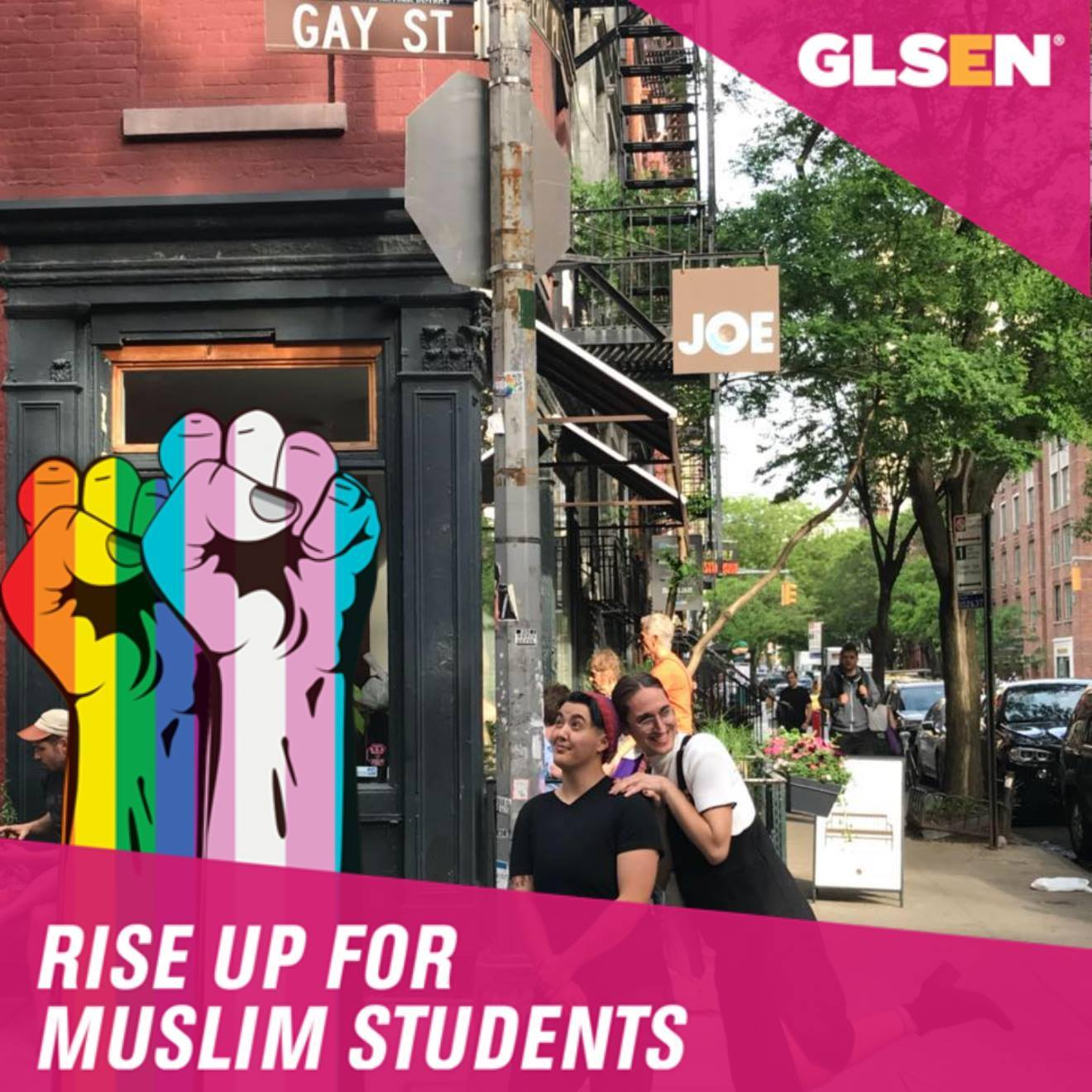 Rise Up to Protect Muslim Students Facebook Frame