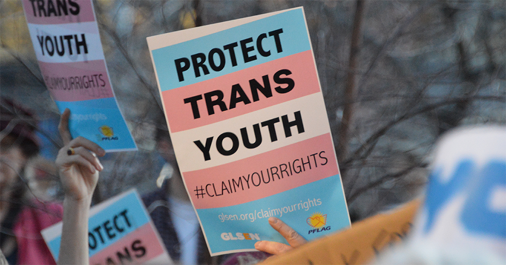 Image of Protect Trans Youth Rally