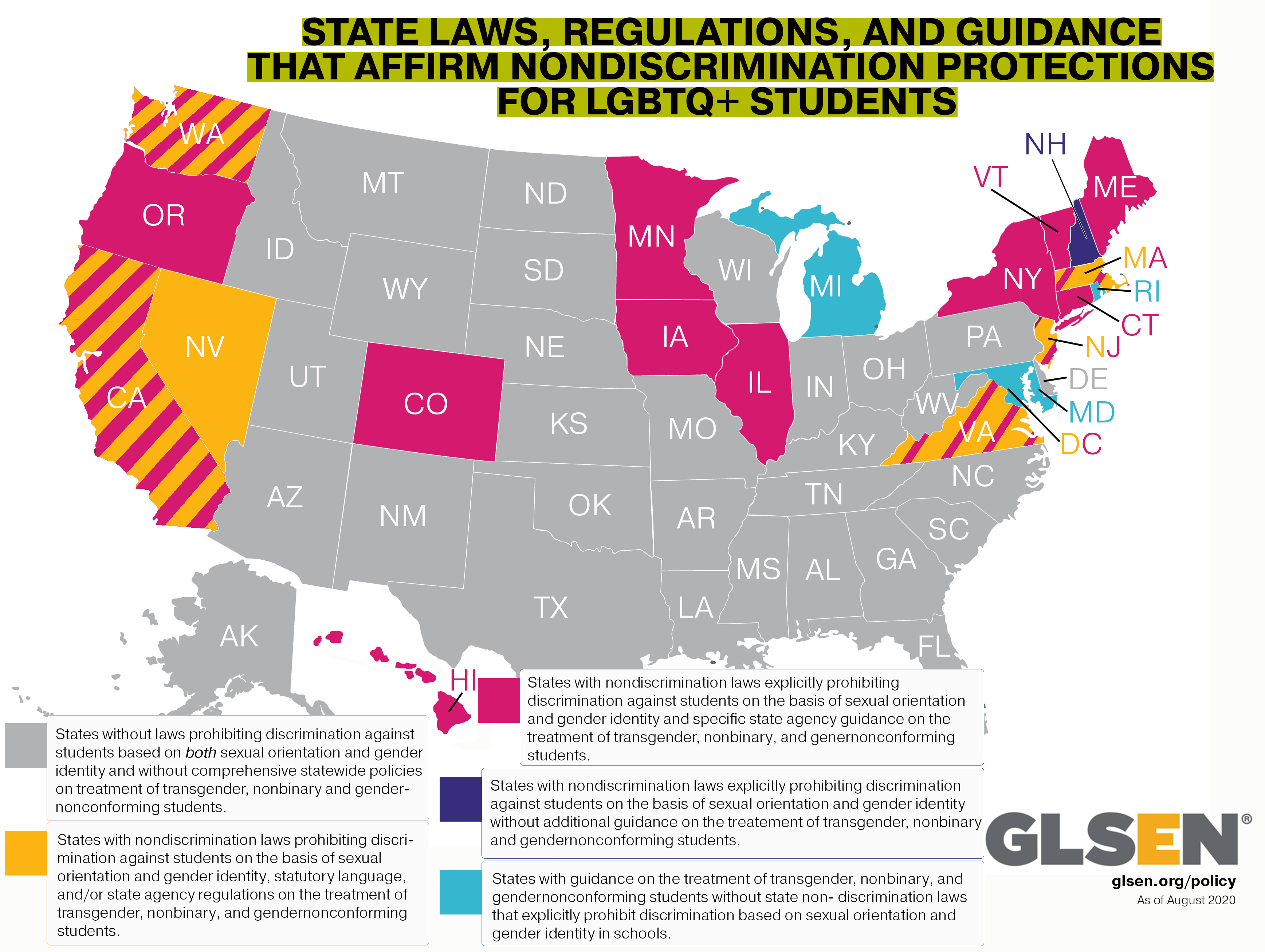 TATE LAWS, REGULATIONS, AND GUIDANCE THAT AFFIRM NONDISCRIMINATION PROTECTIONS FOR LGBTQ+ STUDENTS