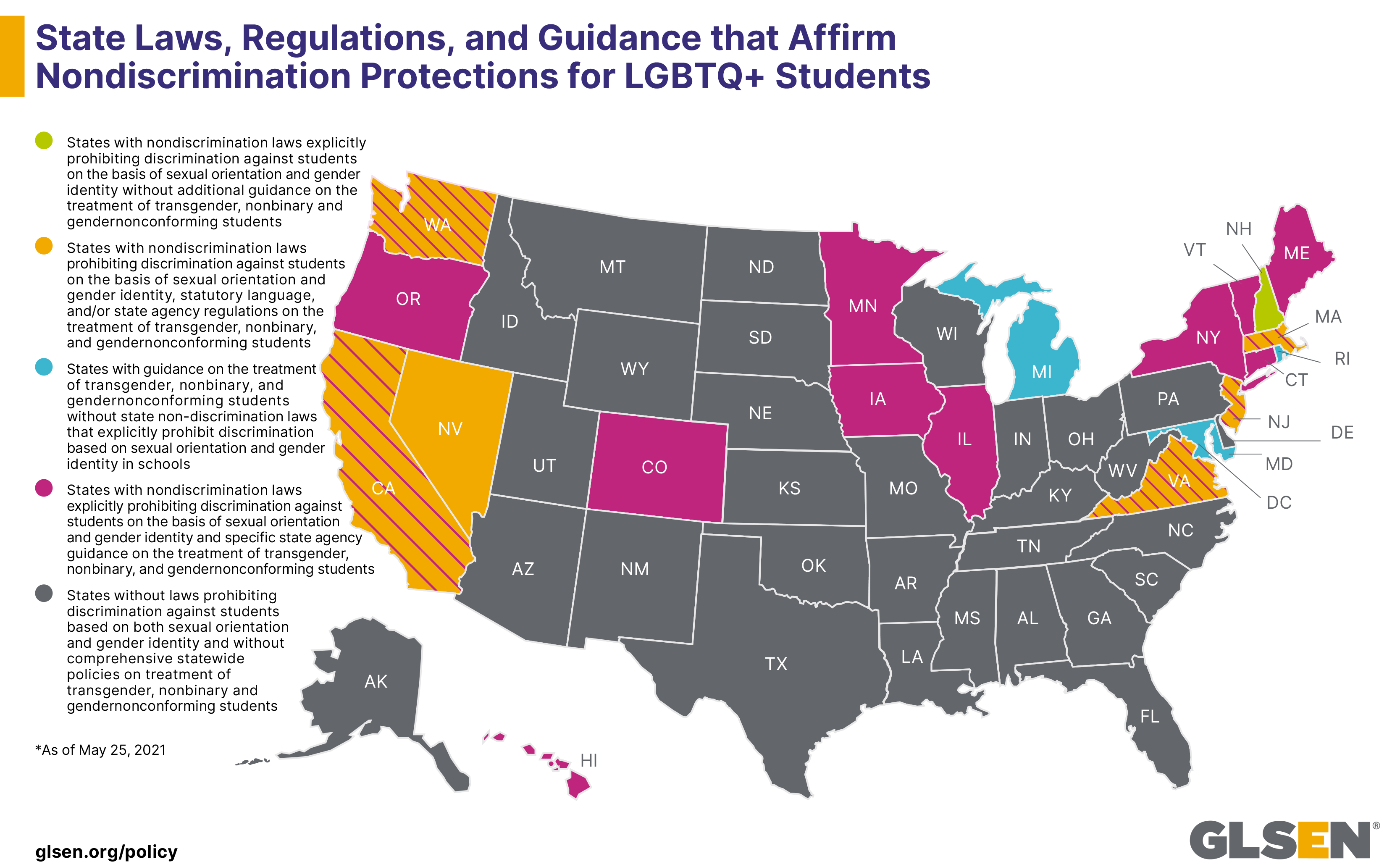 STATE LAWS, REGULATIONS, AND GUIDANCE THAT AFFIRM NONDISCRIMINATION PROTECTIONS FOR LGBTQ+ STUDENTS