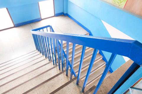 An image of school stairs.