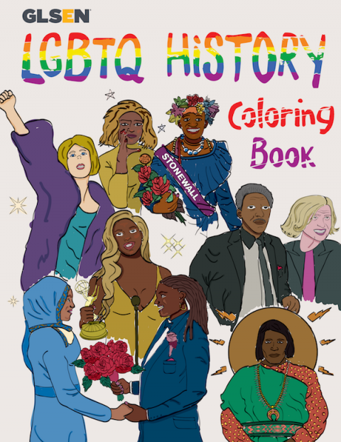 LGBTQ History Coloring Book cover page.