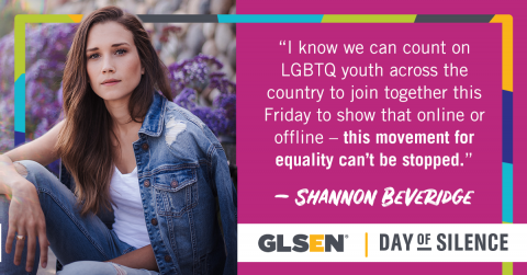 Shannon Beveridge Supports GLSEN's Day of Silence