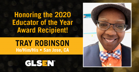 Tray Robinson, Educator of the Year 2020