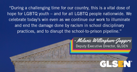 Quote from GLSEN's Melanie Willingham-Jaggers