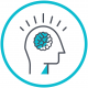 GLSEN's learn icon. A drawing of a person with their brain thinking.